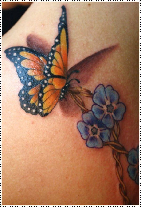 35 delicados dise os de tatuajes de mariposas. Black Bedroom Furniture Sets. Home Design Ideas